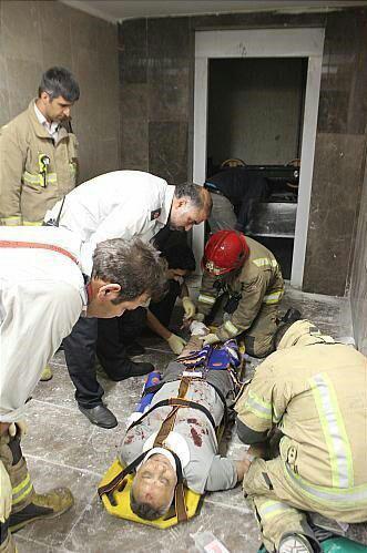 چاهک آسانسور,حادثه در مشهد,حوادث مشهد