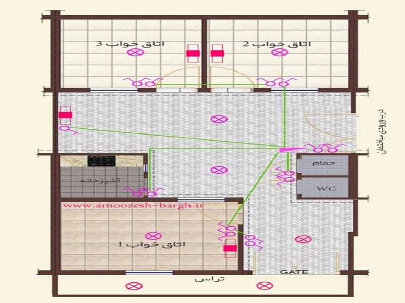 برق آسانسور,برق ساختمان,نقشه برق