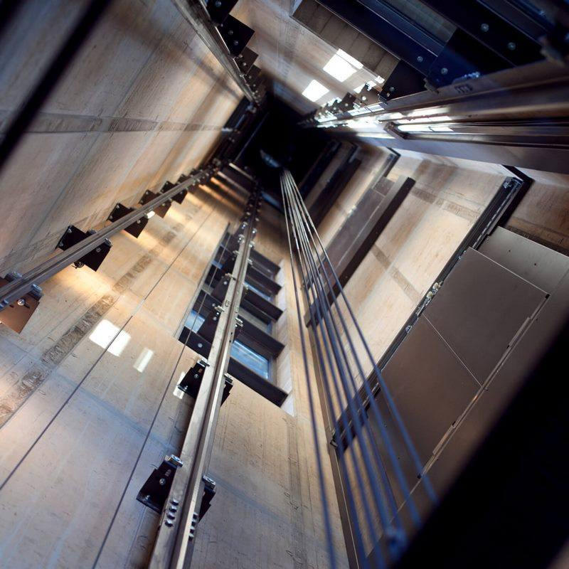 استاندارد چاه آسانسور,انواع پوشش چاه آسانسور,پوشش چاه آسانسور