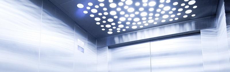 روشنایی کابین آسانسور,لامپ در کابین آسانسور,روشنایی کابین آسانسور